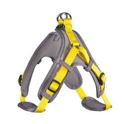 Hunter шлейка с мягкой подкладкой Neopren Vario Quick, обхват груди 55-70 см, ширина 1,5 см (размер М), цвет желтый с серым