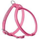 Hunter шлейка для собак Modern Art Round & Soft Luxus, кожзам, кристаллы, цвет розовый