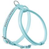 Hunter шлейка для собак Modern Art Round & Soft Luxus, кожзам, кристаллы, цвет голубой