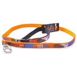 """Papillon поводок для собак """"Рок-н-ролл"""", цвет оранжевый"""