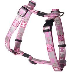 Rogz светоотражающая шлейка для щенков Reflecto, цвет розовый
