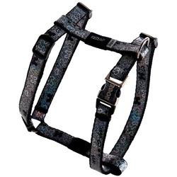 Rogz шлейка для собак мелких и средних пород Trendy, цвет черный