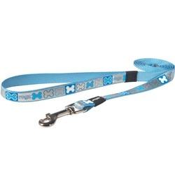 Rogz светоотражающий поводок для щенков Reflecto , цвет голубой