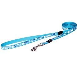 """Rogz поводок для собак мелких и средних пород Trendy, цвет """"Голубые косточки"""""""
