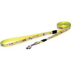 """Rogz поводок для собак мелких и средних пород Trendy, цвет """"Разноцветные косточки"""""""