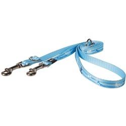 Rogz поводок-перестежка для щенков Scratchproof Webbing, цвет голубой