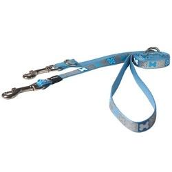Rogz светоотражающий поводок-перестежка для щенков Reflecto, цвет голубой