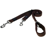 Rogz поводок-перестежка для собак Utility, цвет коричневый