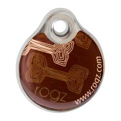 Rogz адресник пластиковый Instant ID Tagz, цвет коричневый