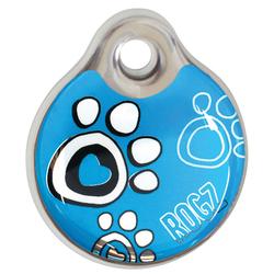 Rogz адресник пластиковый Instant ID Tagz, цвет бирюзовый