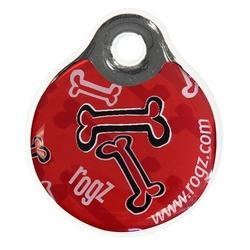 Rogz адресник пластиковый Instant ID Tagz, цвет красный