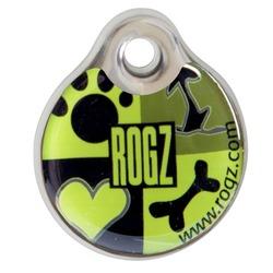 Rogz адресник пластиковый Instant ID Tagz, цвет зеленый