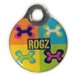 Rogz адресник пластиковый Instant ID Tagz, цвет поп-арт