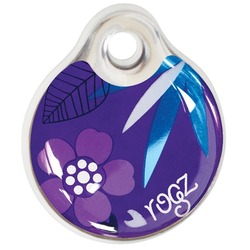 Rogz адресник пластиковый Instant ID Tagz, цвет фиолетовый