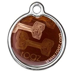 Rogz адресник металлический Metal ID Tagz (без гравировки), цвет коричневый