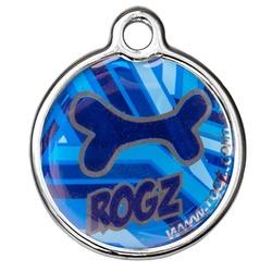 Rogz адресник металлический Metal ID Tagz (без гравировки), цвет морской