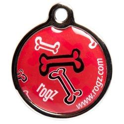 Rogz адресник металлический Metal ID Tagz (без гравировки), цвет красный