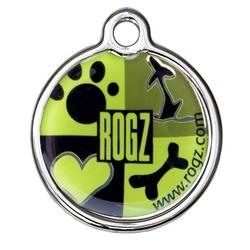 Rogz адресник металлический Metal ID Tagz (без гравировки), цвет зеленый