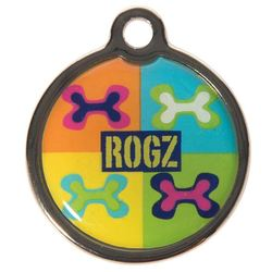 Rogz адресник металлический Metal ID Tagz (без гравировки), цвет поп-арт
