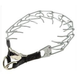 V.I.Pet Ошейник строгий, металлический фастекс, 2 кольца для дополнительной защиты