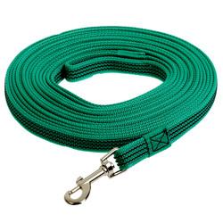 Зооник поводок нейлоновый с латексной нитью, зеленый