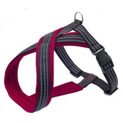 Каскад шлейка Х-образная с мягкой подкладкой, цвет красный