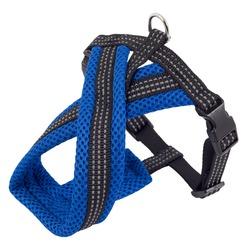 Каскад шлейка Х-образная с мягкой подкладкой, цвет синий