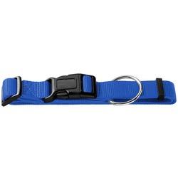 Каскад ошейник нейлоновый с пластиковой застежкой, цвет синий