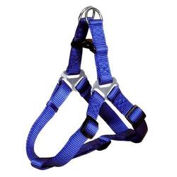 Каскад шлейка для собак нейлоновая быстросъемная, цвет синий