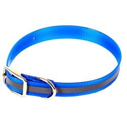 Каскад Ошейник биотановый со светоотражающей полосой, синий