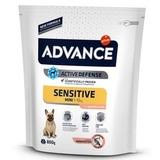 Advance Mini Sensitive для собак малых пород с чувствительным пищеварением: лосось и рис