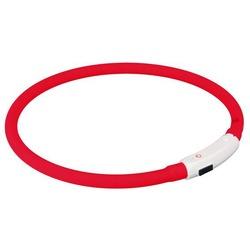 Trixie Светящийся ошейник-шнурок на шею, силиконовый, цвет красный