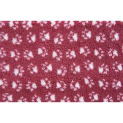 ProFleece меховой коврик на нескользящей основе, цвет бордовый с белым