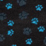 ProFleece меховой коврик на нескользящей основе, цвет угольный с синим