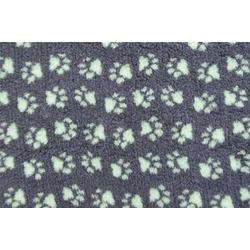 ProFleece меховой коврик на нескользящей основе, цвет угольный с мятным