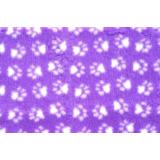ProFleece меховой коврик на нескользящей основе, цвет сиреневый с белым