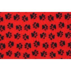 ProFleece меховой коврик на нескользящей основе, цвет красный с черным
