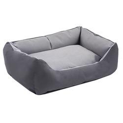 Darell лежак мягкий с подушкой, цвет серый