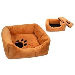 Yami-Yami Лежак меховой квадратный с подушкой, цвет рыжий, Darell Belka