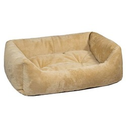 Darell Лежак прямоугольный меховой с бортиками и съемной подушкой, цвет бежевый Darell Lion