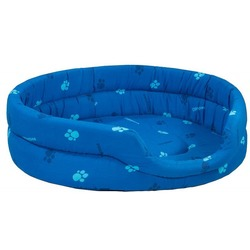 Darell Лежак овальный стёганый, цвет синий