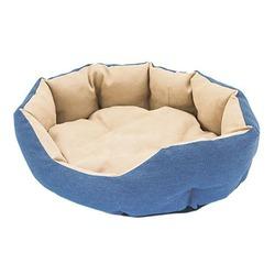 Darell Лежак джинсовый, овальный Indigo, цвет синий с бежевым