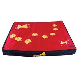 Dezzie Лежак-коврик красный с лапами