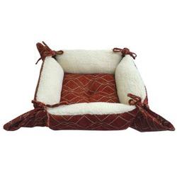 Dezzie квадратный лежак с завязками по краям