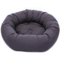 Лежанка овальная Dog Gone Smart «Donut», цвет темно-серый