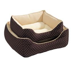 Софа для собак и кошек Hunter Hundesofa White Dots коричневая