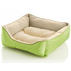 Скидка! Софа для собак и кошек Hunter Hundesofa White Dots салатовая, 50х50 см