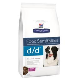 Hill`s D/D лечение пищевых аллергий, для собак, с уткой и рисом