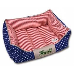"Katsu ""Америка"" лежак с бортом, синий."