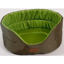 "Katsu ""Classic Shine"" лежак с бортом, хаки-зеленый."